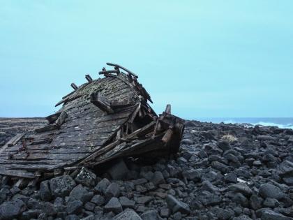 обломки судна в районе Сельвогюр, Selvogur, Южная Исландия, фото Стасмир, photo Stasmir