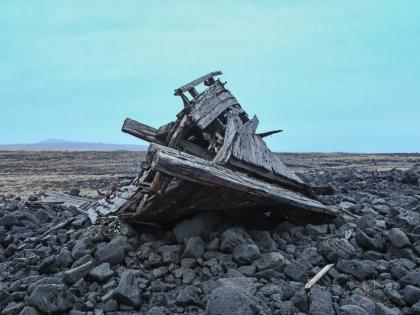 один из севших на мель кораблей в районе Сельвогюр, Selvogur, Южная Исландия, фото Стасмир, photo Stasmir