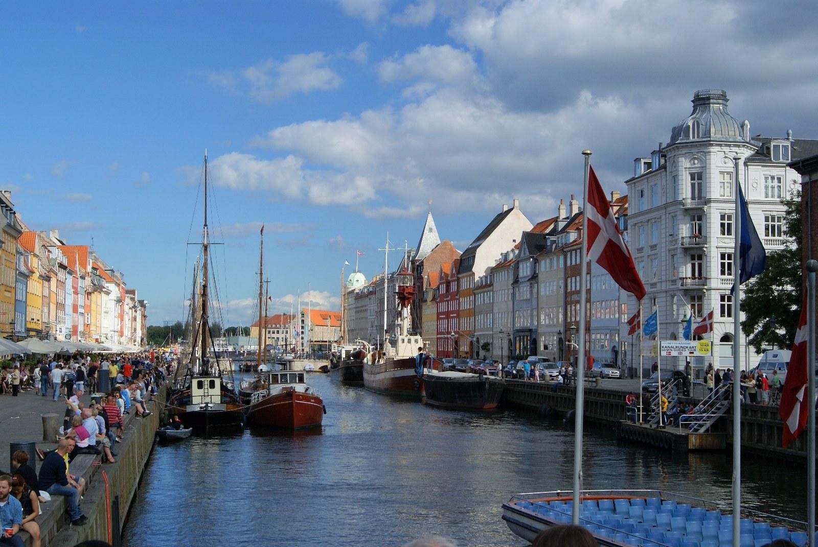 Dannebrog1, Нюхавн, Новая Гавань, Дания, Эресуннский пролив, Новая Королевская площадь, виды Копенгагена