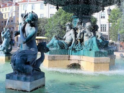 Лиссабон, площадь Россиу, Lisboa, Lisbon, Rossio, Praça do Rossio, Dom Pedro IV, площадь Дома Педру IV, Photo Stasmir
