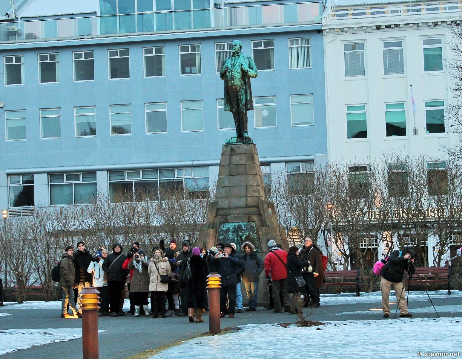 Jón Sigurðsson - герой борьбы за независимость Исландии, скульптура на площади Эёстюрвёдлюр, Рейкьявик, Фото Стасмир, photo Stasmir