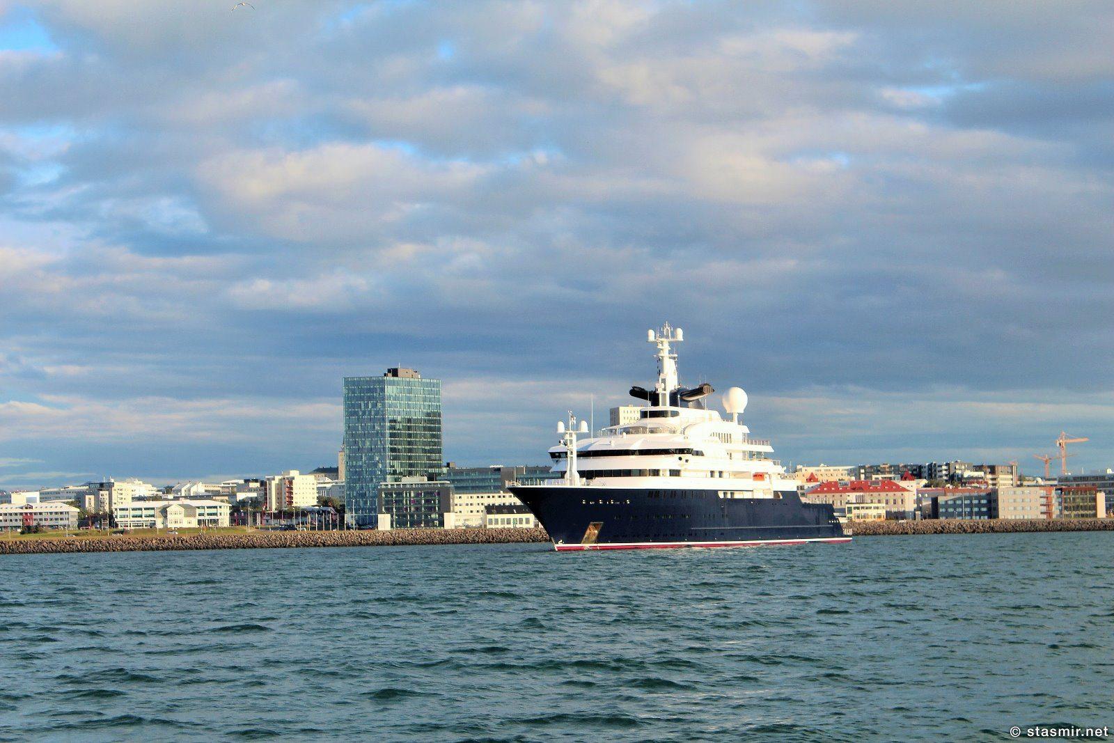 Осьминожка – 126-метровая яхта Пола Аллена, частный гость в рейкьявикском порту, фото Стасмир, photo Stasmir