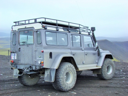 Лэндровер взбирается на вулкан Гекла, Landmannalaugar, Ландманналёйгар, Лундаманналаугар, джип-сафари, Исландия, фото Стасмир, photo Stasmir,