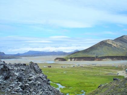 туристическая база на Ландманналаугар много лет назад, Landmannalaugar, Ландманналёйгар, Лундаманналаугар, джип-сафари, Исландия, фото Стасмир, photo Stasmir,