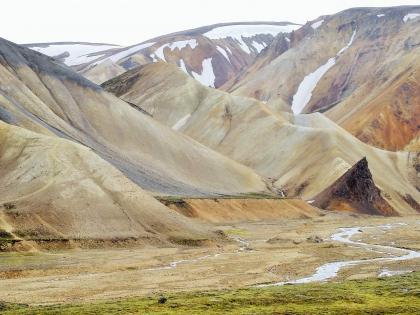 желтые риолитовые горы на Ланманналаугар, Landmannalaugar, Ландманналёйгар, Лундаманналаугар, джип-сафари, Исландия, фото Стасмир, photo Stasmir,