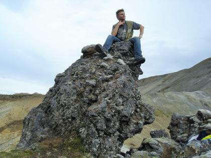 селфи в полях обсидиана на Ландманналаугар, Landmannalaugar, Ландманналёйгар, Лундаманналаугар, джип-сафари, Исландия, фото Стасмир, photo Stasmir,