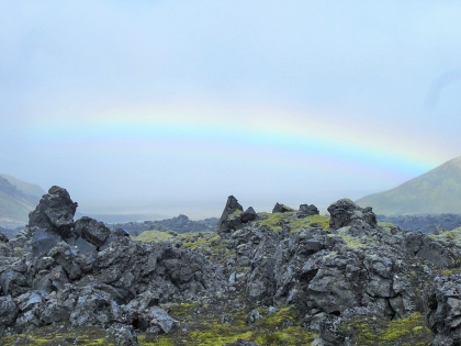 радуга на пешем маршруте по Ландманналаугар,  Landmannalaugar, Ландманналёйгар, Лундаманналаугар, джип-сафари, Исландия, фото Стасмир, photo Stasmir,