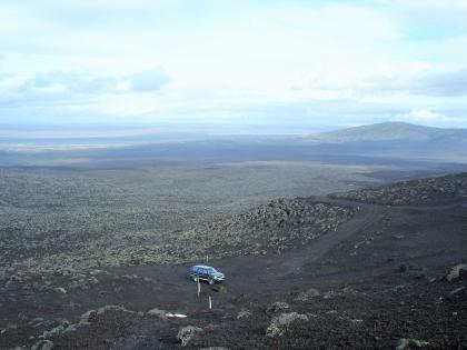 вид на поля лавы с вулканан Гекла, Landmannalaugar, Ландманналёйгар, Лундаманналаугар, джип-сафари, Исландия, фото Стасмир, photo Stasmir,