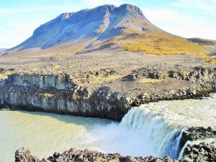 водопад Тьйовафосс по пути на Ландманналаугар, Landmannalaugar, Ландманналёйгар, Лундаманналаугар, джип-сафари, Исландия, фото Стасмир, photo Stasmir,
