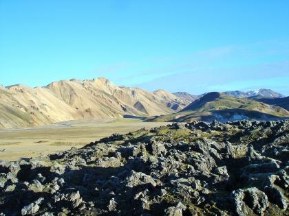 лавовые поля на Ландманналаугар, Landmannalaugar, Ландманналёйгар, Лундаманналаугар, джип-сафари, Исландия, фото Стасмир, photo Stasmir,