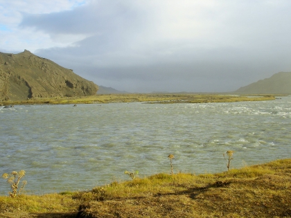 Тйодсау - самая длинна река в Исландии,  Landmannalaugar, Ландманналёйгар, Лундаманналаугар, джип-сафари, Исландия, фото Стасмир, photo Stasmir,