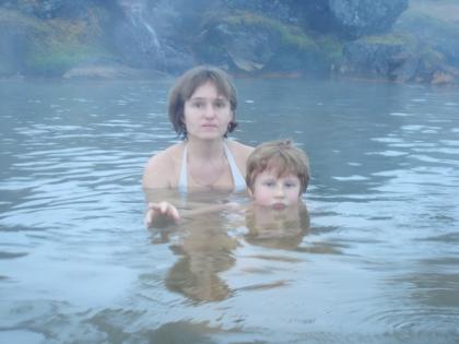 теплая река на Ландманналаугар зимой, зимнее купание в Исландии, Landmannalaugar, Ландманналёйгар, Лундаманналаугар, джип-сафари, Исландия, фото Стасмир, photo Stasmir,