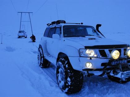 Зимняя дорога по исландскому высокогорью, Landmannalaugar, Ландманналёйгар, Лундаманналаугар, джип-сафари, Исландия, фото Стасмир, photo Stasmir,
