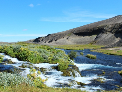 речка по пути на Ландманналаугар, Landmannalaugar, Ландманналёйгар, Лундаманналаугар, джип-сафари, Исландия, фото Стасмир, photo Stasmir,