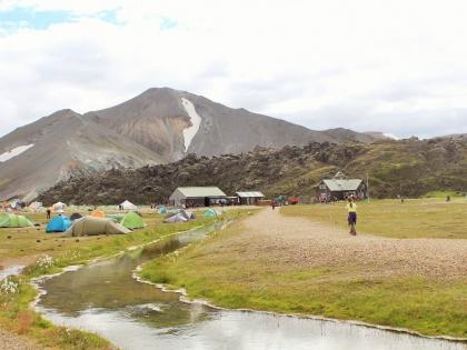 палатки на Landmannalaugar, Ландманналёйгар, Лундаманналаугар, джип-сафари, Исландия, фото Стасмир, photo Stasmir,