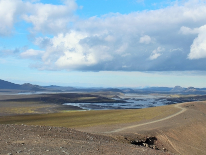 Спуск с вулкана Гекла по пути на Landmannalaugar, Ландманналёйгар, Лундаманналаугар, джип-сафари, Исландия, фото Стасмир, photo Stasmir,