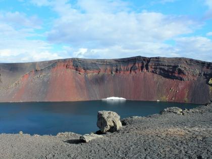 кратер взрывного вулкана в Исландии,  Landmannalaugar, Ландманналёйгар, Лундаманналаугар, джип-сафари, Исландия, фото Стасмир, photo Stasmir,