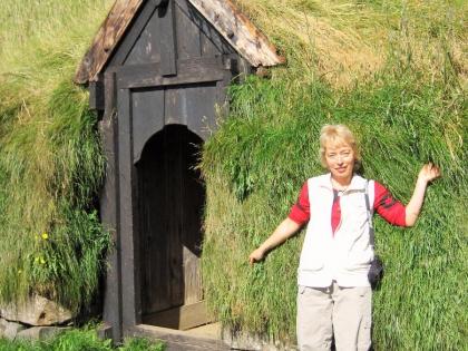 копия древней исландской фермы по пути на Ландманналаугар, фото Стасмир, photo Stasmir