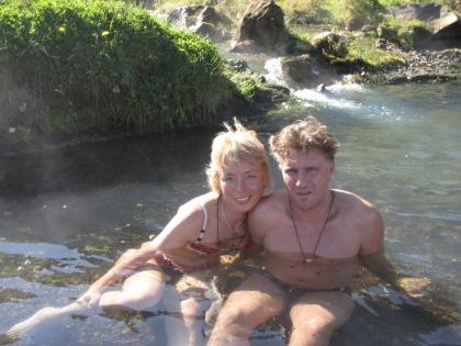 купание в теплой речке на Ландманналаугар, фото Стасмир, photo Stasmir