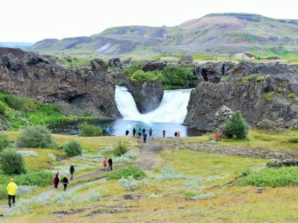 Водопад Хьяулпарфосс, Hjálparfoss, Landmannalaugar, Ландманналёйгар, Ландманналаугар, фото Стасмир, Photo Stasmir