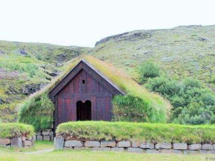 Þjóðveldisbærinn Stöng, копия древней исландской фермы, Лидвельдисбаер, Þjórsárdalur, фото Стасмир, Photo Stasmir