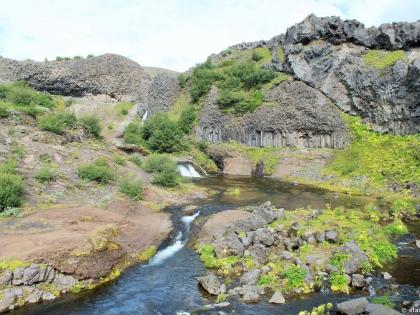 Gjáin, магическая страна водопадов Гйауин, самое красивое место в Исландии, фото Стасмир, photo Stasmir, Landmannalaugar, Ландманналёйгар, базальтовые колонны в Исландии, водопады Исландии