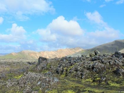 обсидиан, заросли обсидиана, hrafntinna, фото Стасмир, photo Stasmir, Landmannalaugar, Ландманналёйгар, пешие маршруты на Ландманналёйгар, желтый горы, желтые риолитовые горы, Stasmir, Стасмир