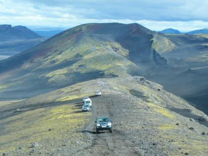 дорога на вулкан Гекла, Landmannalaugar, Ландманналёйгар, Лундаманналаугар, джип-сафари, Исландия, фото Стасмир, photo Stasmir, вид из окна Форда Е350