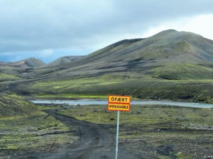 Ófært, Impassible, непроходимая дорога, Landmannalaugar, Ландманналёйгар, Лундаманналаугар, джип-сафари, Исландия, фото Стасмир, photo Stasmir, плотины на реке Тьоурсау