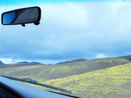 спуск с Геклы на Е350, Landmannalaugar, Ландманналёйгар, Лундаманналаугар, джип-сафари, Исландия, фото Стасмир, photo Stasmir, джип-сафари на Ландманналаугар, вид из машины по пути в Ландманналёйгар