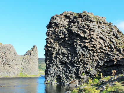 виды водопадов в Исландии,  Landmannalaugar, Ландманналёйгар, Лундаманналаугар, джип-сафари, Исландия, фото Стасмир, photo Stasmir, базальтовые колонны, базальт, водопады на пути к Ландманналёйгар