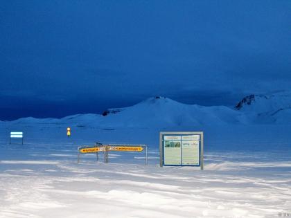 Landmannalaugar, Ландманналёйгар, Лундаманналаугар, джип-сафари, Исландия, фото Стасмир, photo Stasmir, указатель на Хрёйнэййар и Ландманналаугар, зимняя Исландия, зимнее джип-сафари по Исландии