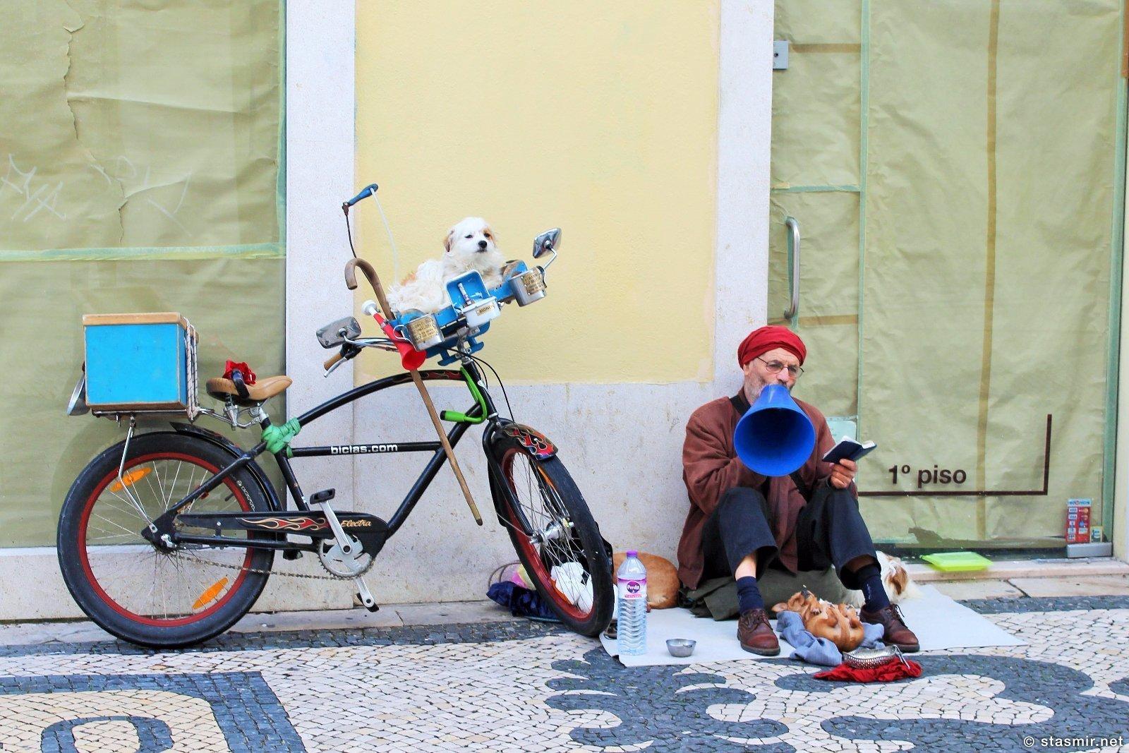 Rua Augusta, Baixa de Lisboa, Praça do Comércio, Руа Аугушта, Байша, Центр Лиссабона, Португалия, нищий на главной улице Лиссабона, Станислав Смирнов, Стасмир Трэвэл, Stanislav Smirnov, Stasmir, Stasmir Travel