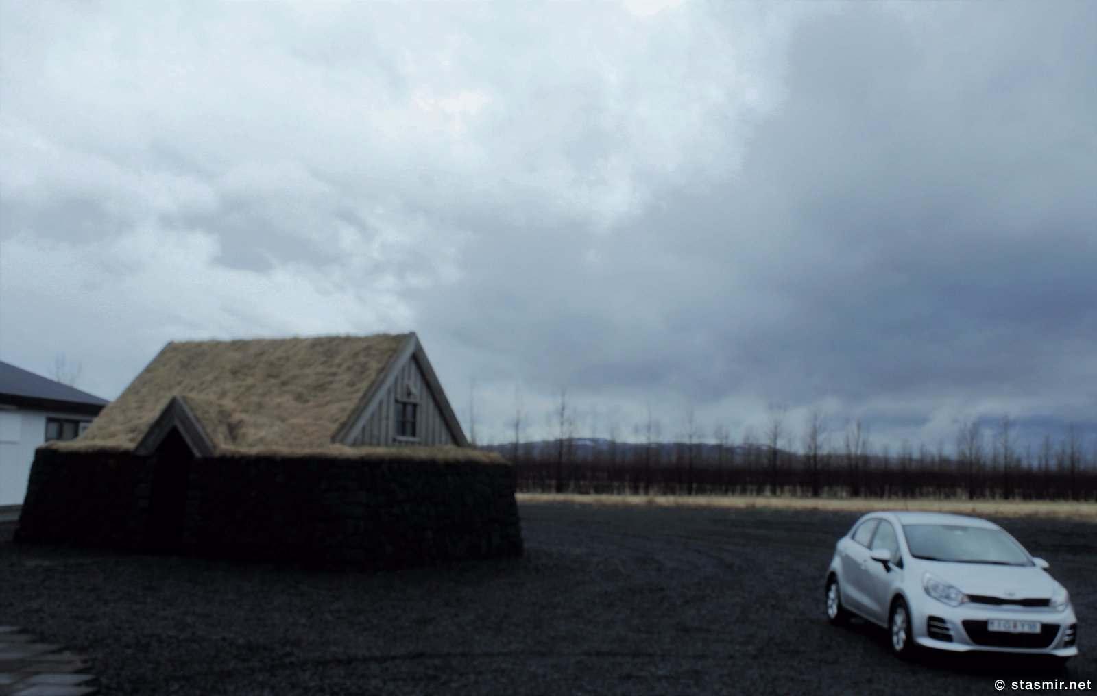 хранилище зерна Sofn при музее службы рекламации почв Sagnagarður в районе Fljótshlíð