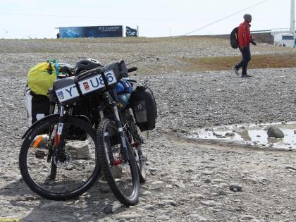 Велосипеды на Ледниковой Лагуне в Исландии, фото Стасмир, photo Stasmir