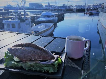 затрак в гавани Рейкьявика, фото Стасмир, photo Stasmir, breakfast
