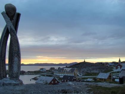 Нуук, столица Гренландии, белые ночи, фото Стасмир, photo Stasmir