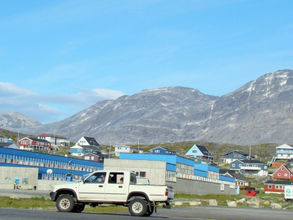 Нуук, столица Гренландии, белые ночи, фото Стасмир, photo Stasmir, архитектура Гренландии