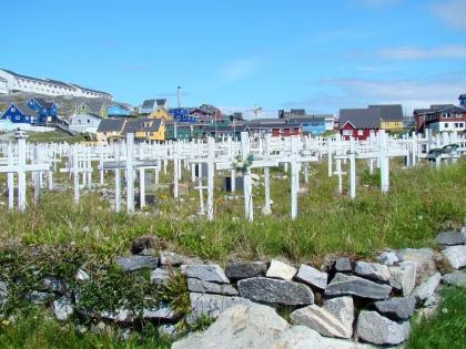 кладбище инуитов, Нуук, Гренландия, фото Стасмир, Photo Stasmir