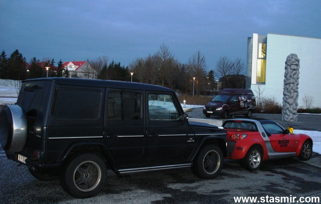 Cars, Гелик, Гелиндваген, Смарт, Laugar Spa, Лёйгардалюр, Рейкьявик, Исландия, фото Стасмир, Photo Stasmir