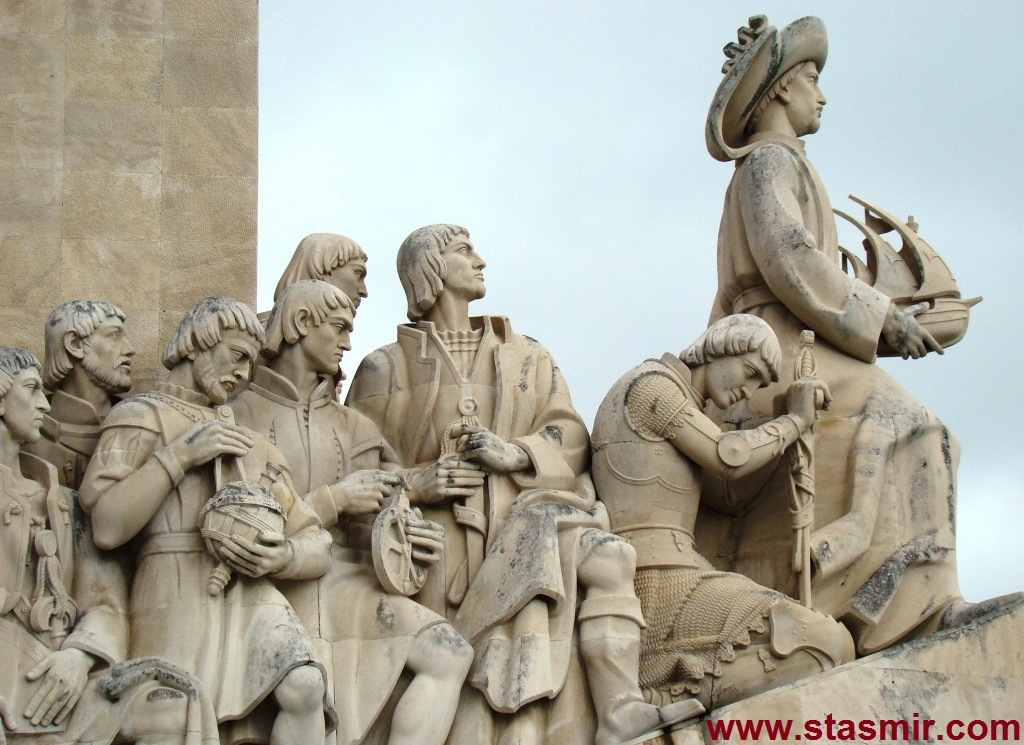 Padrão dos Descobrimentos, Лиссабон, Памятник первооткрывателям, Генрих Мореплаватель, Белем, фото Стасмир, photo Stasmir