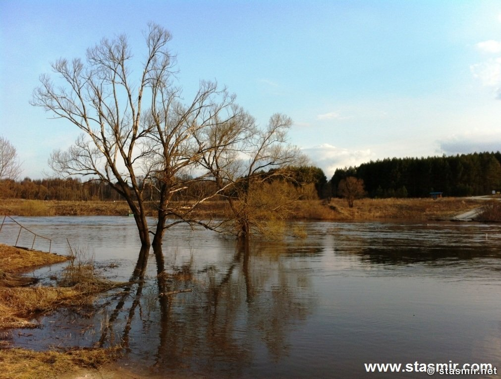 Наводнюха, Половодье, Река Ока, Калужские края, разлив реки, Фото Стасмир, Photo Stasmir