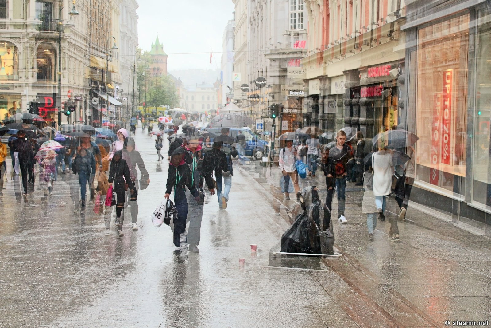 Всех смыло с улиц Осло, дождь в Осло, фото Стасмир, photo Stasmir