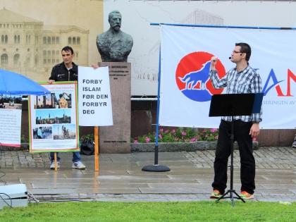 Митинг Ассоциации против исламизации Норвегии на главной улице Осло, фото Стасмир, photo Stasmir, SIAN, Stopp islamiseringen av Norge