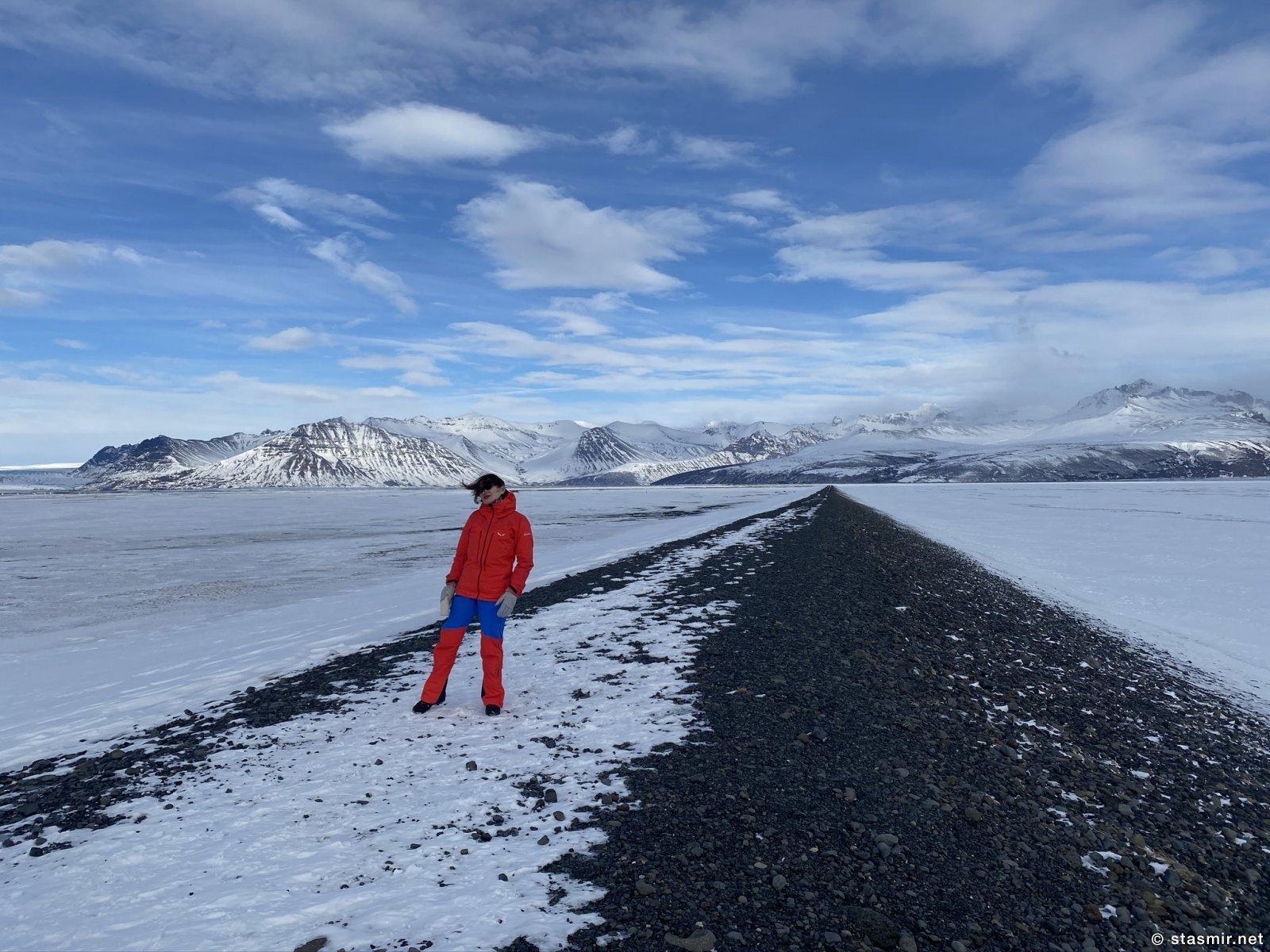 Зимняя Исландия около ледника Ваднайокудль, фото Стасмир, photi Stasmir