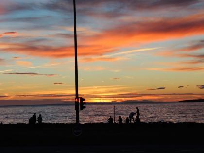 Закат на набережной Рейкьявика, фото Стасмир, photo Stasmir