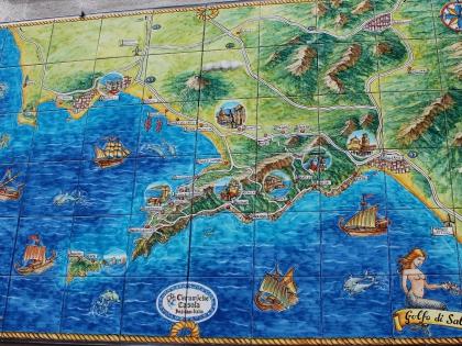 карта залива Салерно в Позитано, керамика Casola, photo Stasmir, фото Стасмир