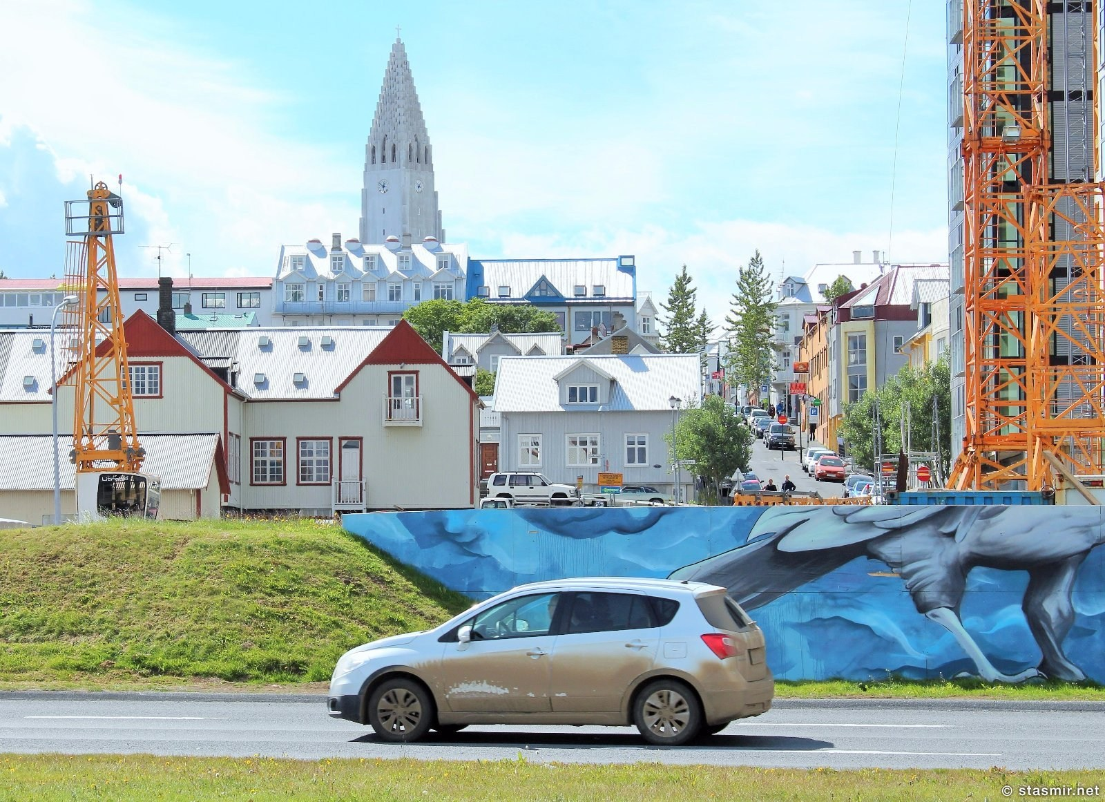 Хатльгримскирха и вид летнего Рейкьявика, фото Стасмир, Photo Stasmir