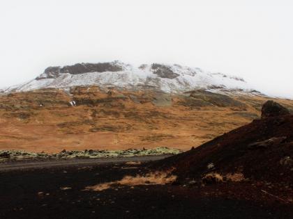 взрывной кратер рядом с минеральным исчтоником Rauðamelsölkelda, фото Стасмир, photo Stasmir