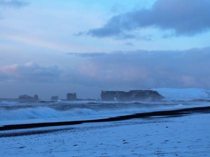 Полуостров Дирхоулаэй - вид с пляжа Рейнисфйаура, фото Стасмир, photo Stasmir
